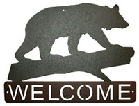 Horizontal Welcome Sign- Bear Design