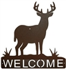 Horizontal Welcome Sign- Deer Design