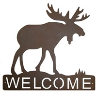 Horizontal Welcome Sign- Moose Design