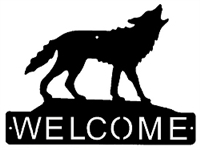 Horizontal Welcome Sign- Wolf Design