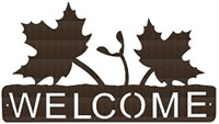 Horizontal Welcome Sign- Maple Leaf Design