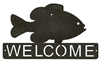 Horizontal Welcome Sign- Pan Fish Design
