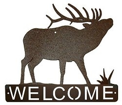 Horizontal Welcome Sign- Elk Design
