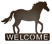 Horizontal Welcome Sign- Horse Design