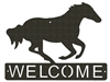 Horizontal Welcome Sign- Galloping Horse Design