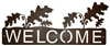 Horizontal Welcome Sign- Oak Leaf Design