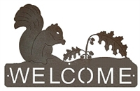 Horizontal Welcome Sign- Squirrel Design
