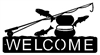 Horizontal Welcome Sign- Fly-Rod Fish Design