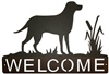 Horizontal Welcome Sign- Lab Retriever Design