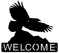 Horizontal Welcome Sign- Eagle Design