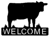 Horizontal Welcome Sign- Cow Design
