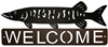 Horizontal Welcome Sign- Muskie Design