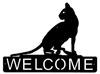 Horizontal Welcome Sign- House Cat Design