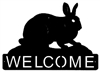 Horizontal Welcome Sign- Rabbit Design