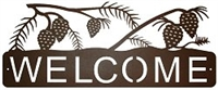 Horizontal Welcome Sign- Pinecone Design