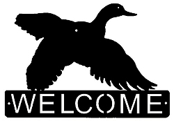 Horizontal Welcome Sign- Flying Duck Design