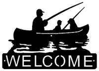 Horizontal Welcome Sign- Fisherman Design