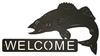 Horizontal Welcome Sign- Walleye Design