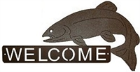Horizontal Welcome Sign- Trout Design