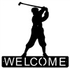 Horizontal Welcome Sign- Golfer Design