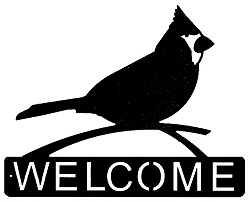 Horizontal Welcome Sign- Cardinal Design