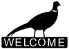 Horizontal Welcome Sign- Pheasant Design