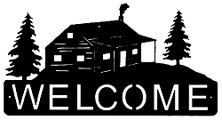 Horizontal Welcome Sign- Cabin Design
