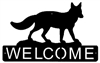 Horizontal Welcome Sign- Fox Design