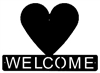 Horizontal Welcome Sign- Heart Design