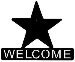 Horizontal Welcome Sign- Star Design