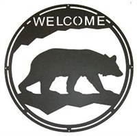 Round Welcome Sign- Bear Design