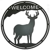 Round Welcome Sign- Deer Design