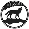 Round Welcome Sign- Wolf Design