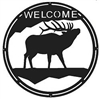 Round Welcome Sign- Elk Design