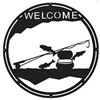 Round Welcome Sign- Fly-Rod Fish Design