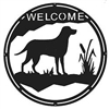 Round Welcome Sign- Lab Retriever Design
