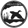 Round Welcome Sign- Flying Duck Design