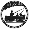 Round Welcome Sign- Fisherman Design