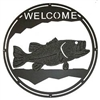 Round Welcome Sign- Bass Design