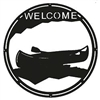 Round Welcome Sign- Canoe Design