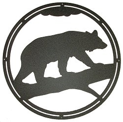 Circle Wall Art- Bear on a Log Design
