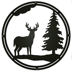 Circle Wall Art- Deer and Tree Design
