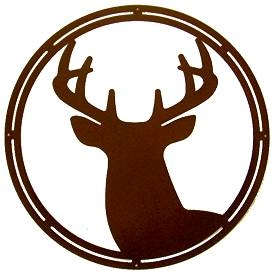 Circle Wall Art- Deer Head Design