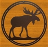 Circle Wall Art- Moose Design