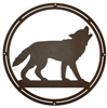 Circle Wall Art- Wolf Design