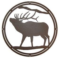 Circle Wall Art- Elk Design