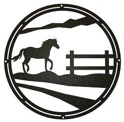 Circle Wall Art- Horse Design