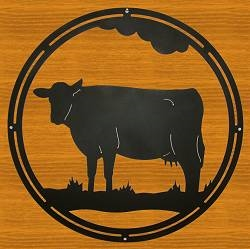 Circle Wall Art- Cow Design