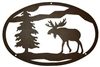 Oval Wall Art- Moose Design