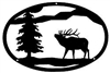 Oval Wall Art- Elk Design